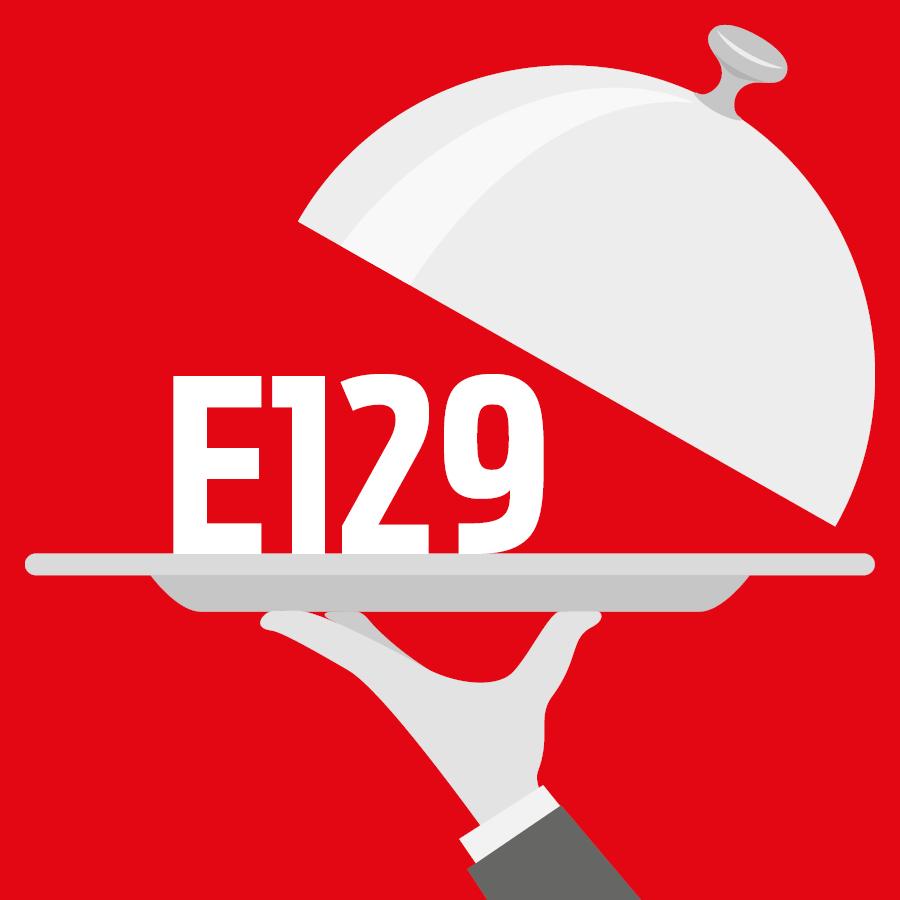 E129 Rouge allura AC -