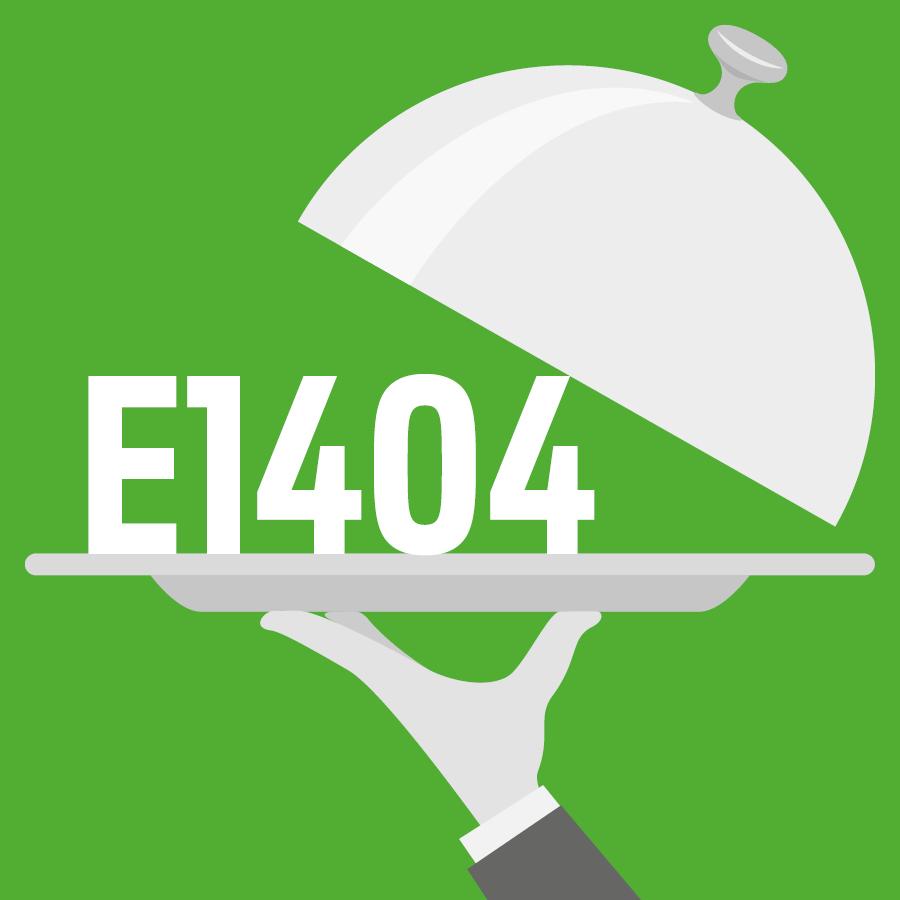E1404 Amidon modifié, amidon oxydé -