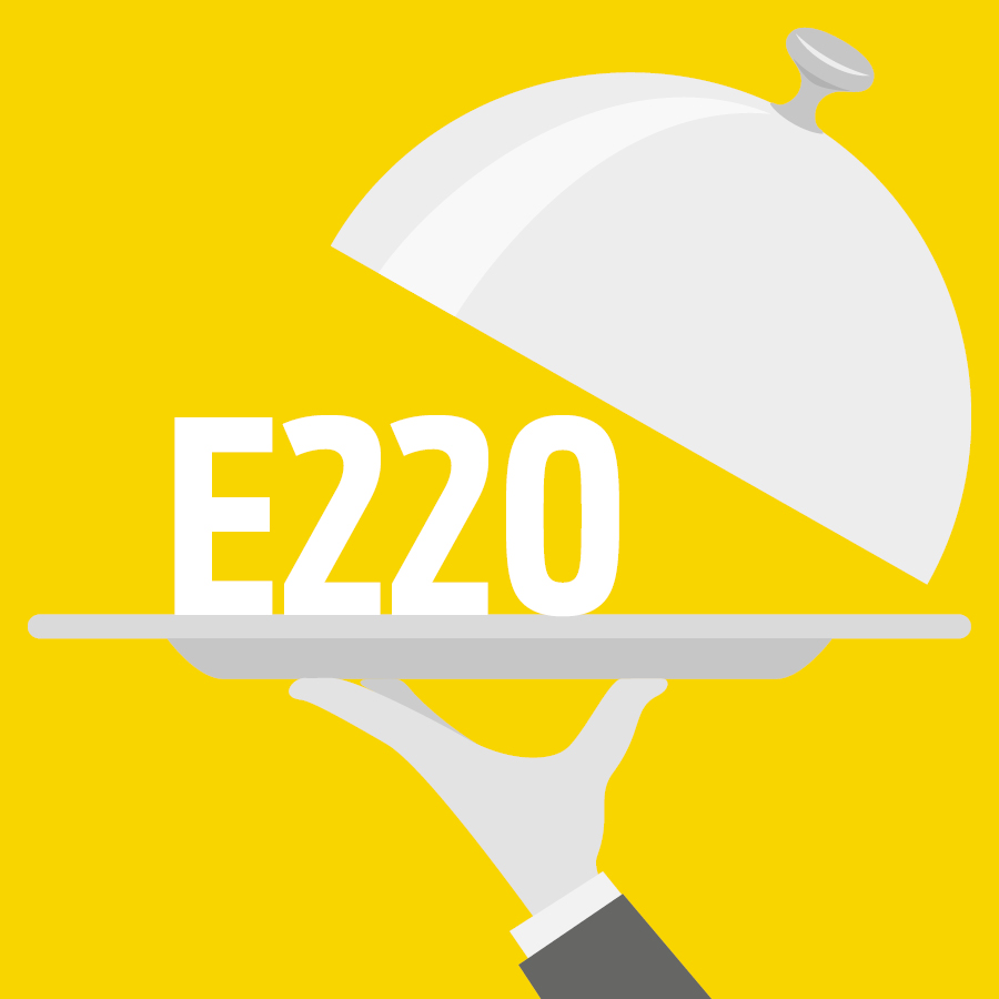 E220 Dioxyde de soufre, Anhydride sulfureux -