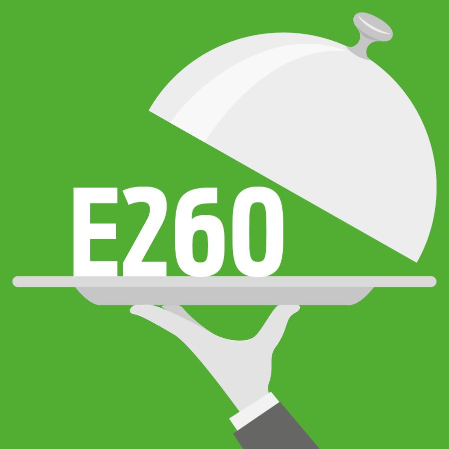 E260 Acide acétique, Acide éthanoïque -