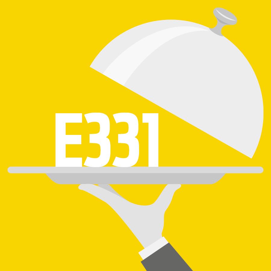 E331 Citrate de sodium -