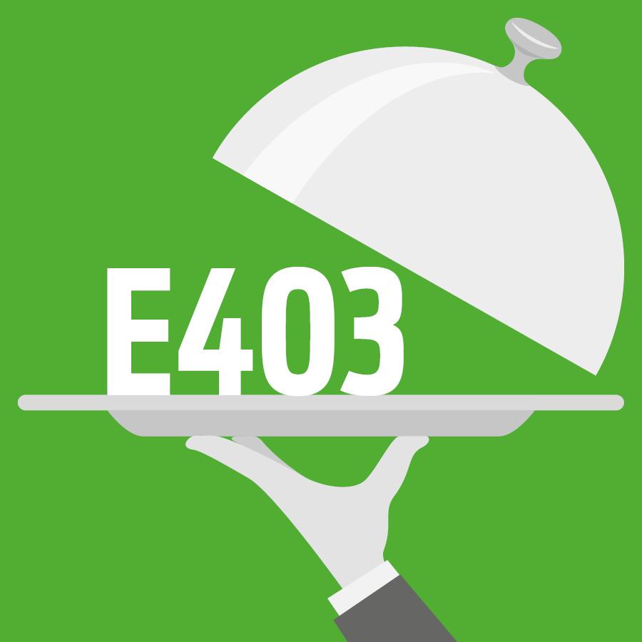 E403 Alginate d'ammonium -