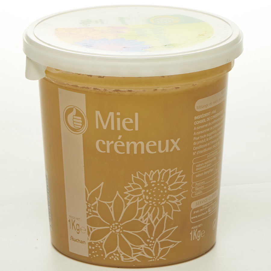 Pouce levé (Auchan) Miel de fleurs crémeux (*1*) -