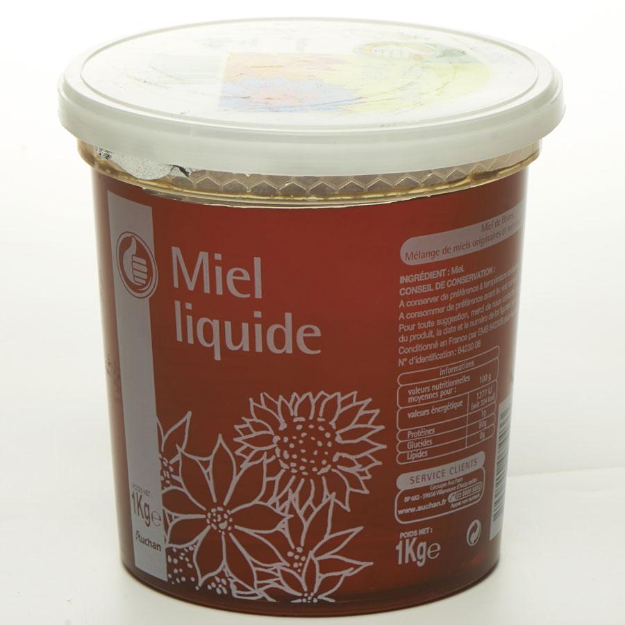 Pouce levé (Auchan) Miel de fleurs liquide (*1*) -