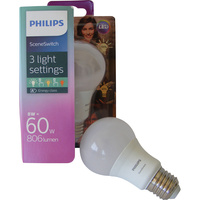 Philips LED SceneSwitch 60W A60 E27 WW FR 1BC/4