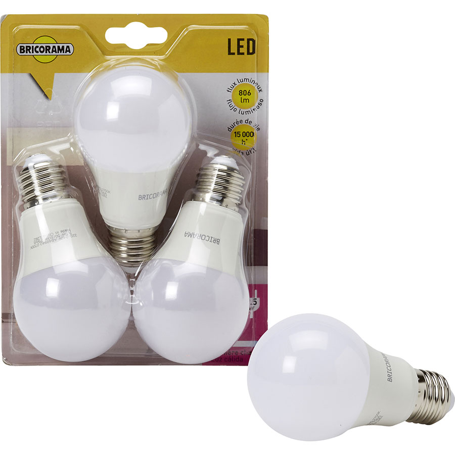 Bricorama Ampoule LED 806 lm (Blister 3 ampoules)  -