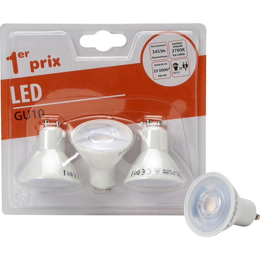 Bricorama LED GU10 345 lm (Blister 3 spots 1er prix) -