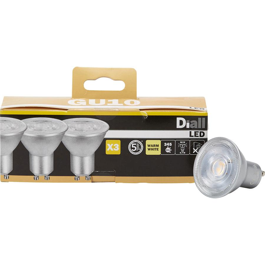 Test Diall Castorama 345 Lumen Led Gu10 Carton 3 Spots