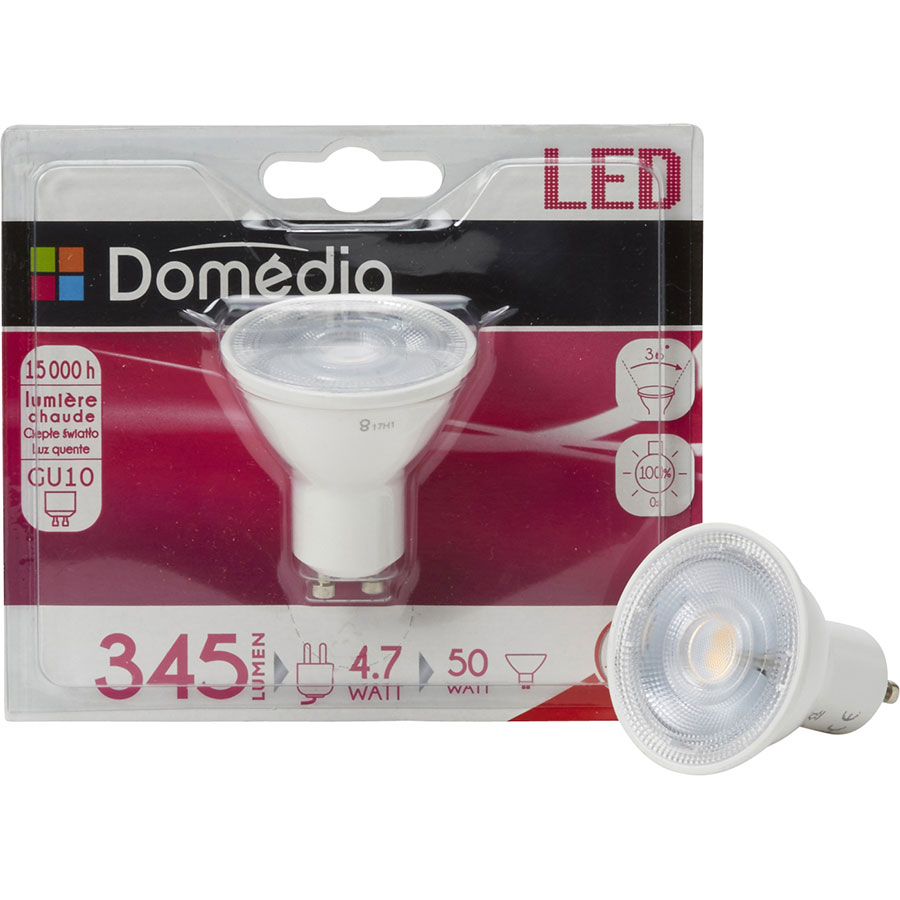 Domedia (Intermarché) LED 345 lm - 4.7W GU10 -