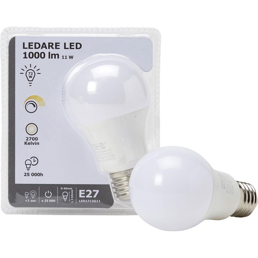 Test Ikea Ledare Led E27 1000 Lm 11w Ampoules Led Ufc Que Choisir