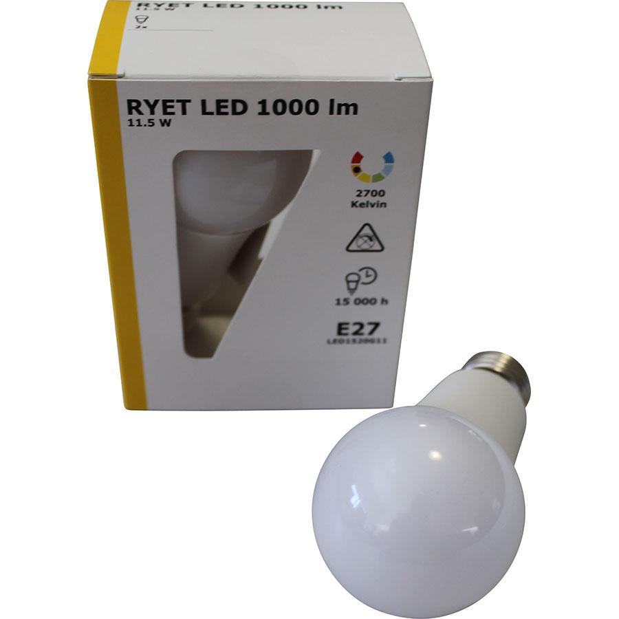 Test Ikea Ryet Led 1000lm x2 Ampoules LED UFC Que