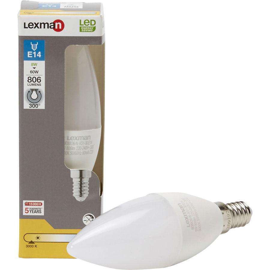 test lexman leroy merlin ampoule led e14 806 lumens 8w. Black Bedroom Furniture Sets. Home Design Ideas