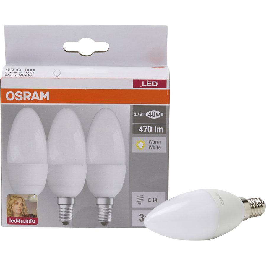 Osram LED 5,7W 470 lm (Box 3 ampoules)  -