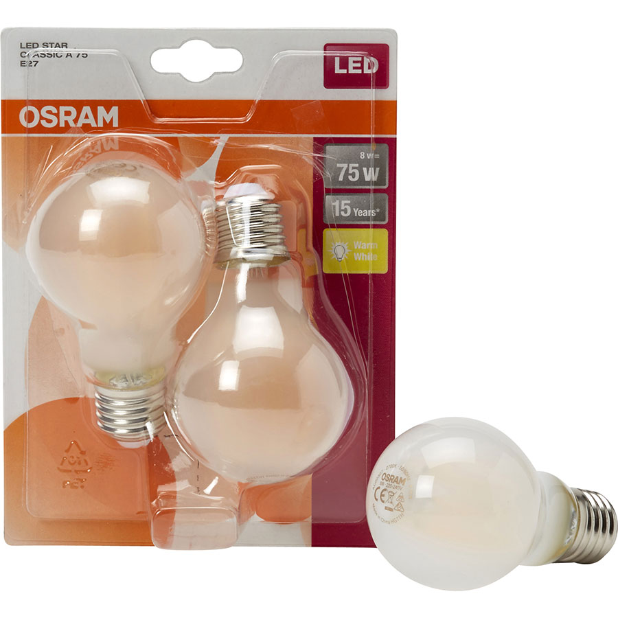 Osram LED Star Classic A75 (Blister 2 ampoules) -
