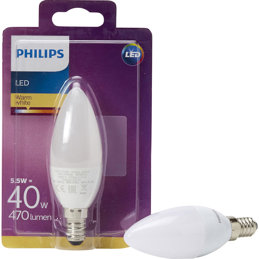 test philips ampoule led warm white 470 lumens ampoules. Black Bedroom Furniture Sets. Home Design Ideas