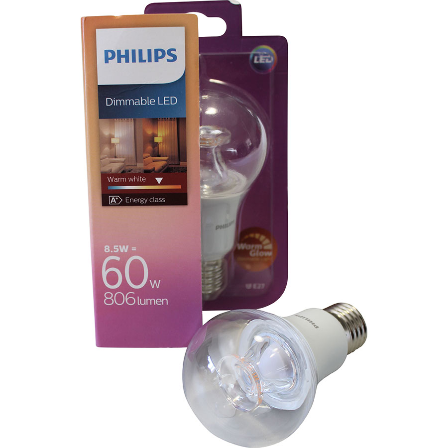test philips dimmable warm glow 806 lm ampoules led ufc que choisir. Black Bedroom Furniture Sets. Home Design Ideas