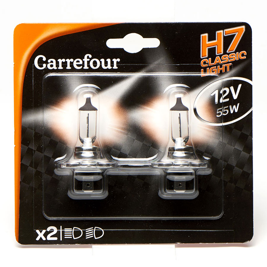 test carrefour h7 classic light ampoules pour phares de voitures ufc que choisir. Black Bedroom Furniture Sets. Home Design Ideas