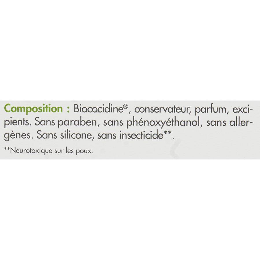 Parasidose+ Poux-lentes soin traitant - Étiquetage de la composition