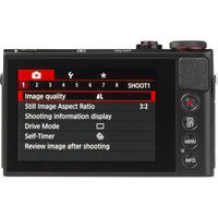 Canon PowerShot G9 X - Vue du dessus