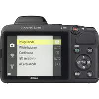 Nikon Coolpix L340 - Vue de dos