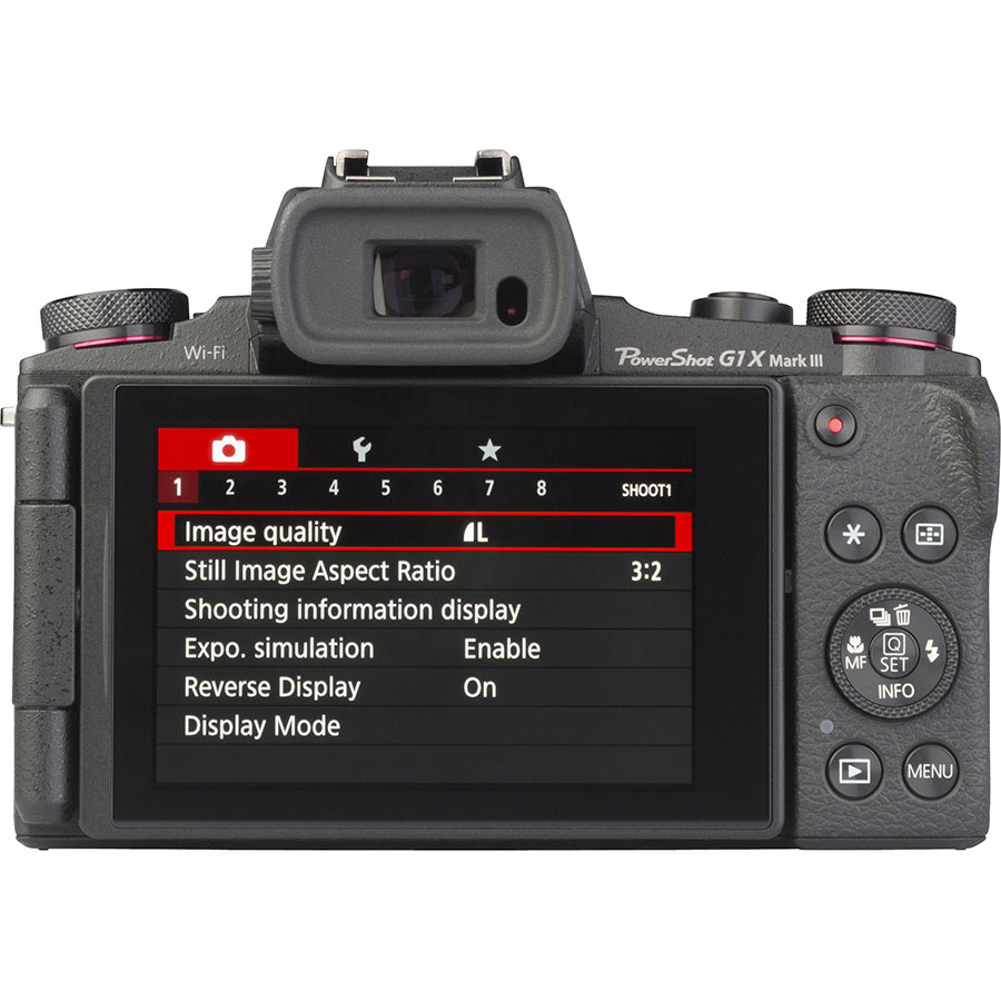 Canon PowerShot G1 X Mark III - Vue de dos