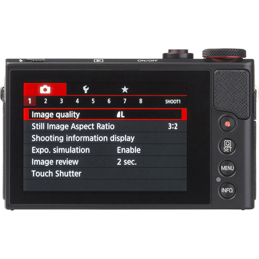 Canon PowerShot G9 X Mark II - Vue de dos