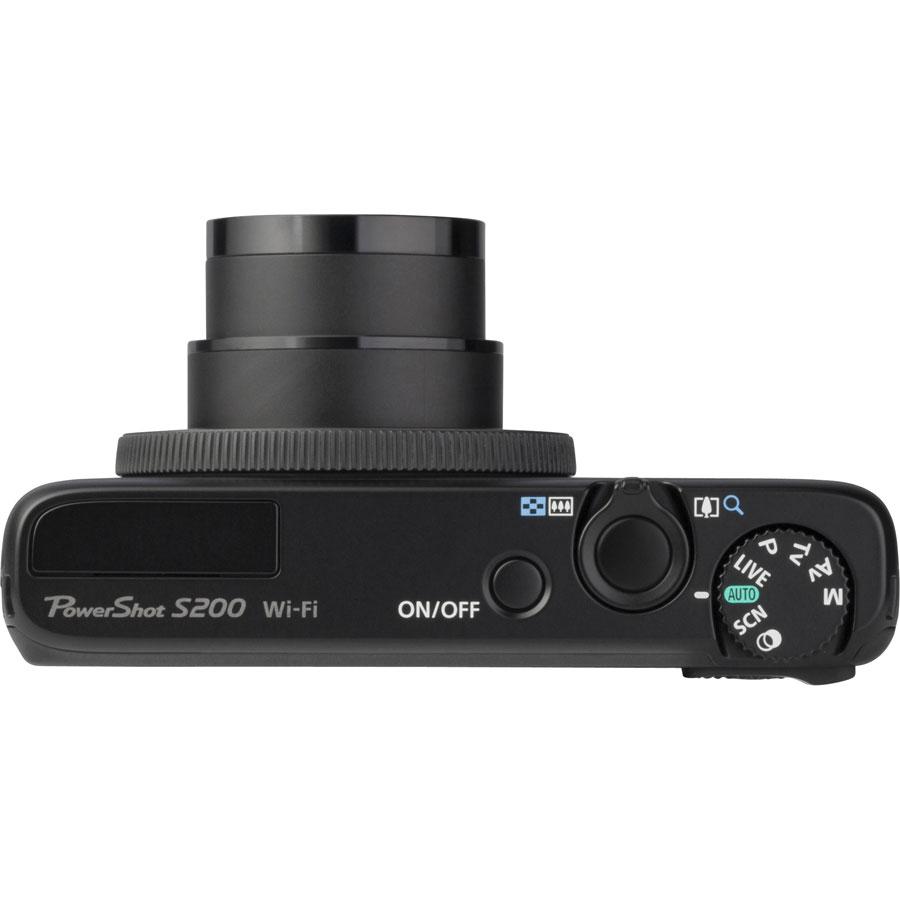 Canon PowerShot S200 - Vue du dessus