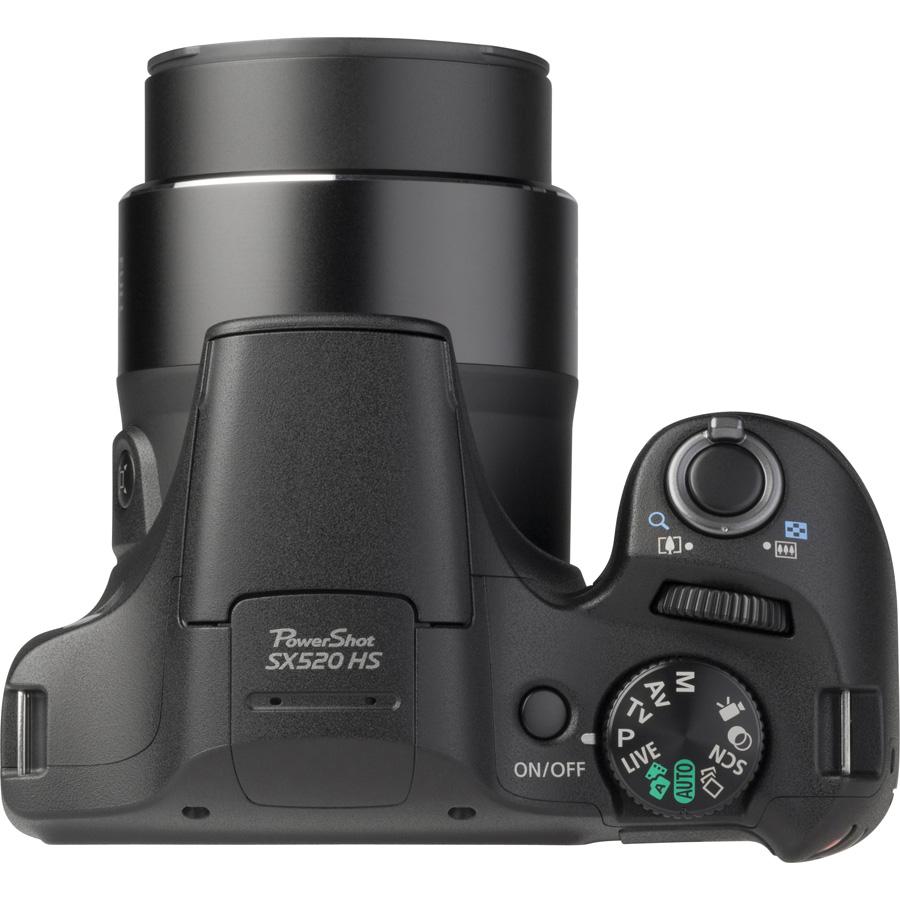 Canon PowerShot SX520 HS - Vue de 3/4 vers la droite