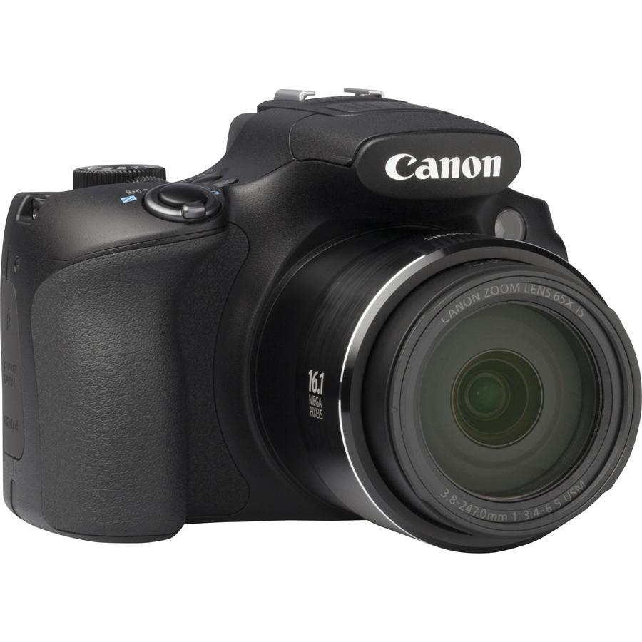 Canon PowerShot SX60 HS - Vue de 3/4 vers la droite
