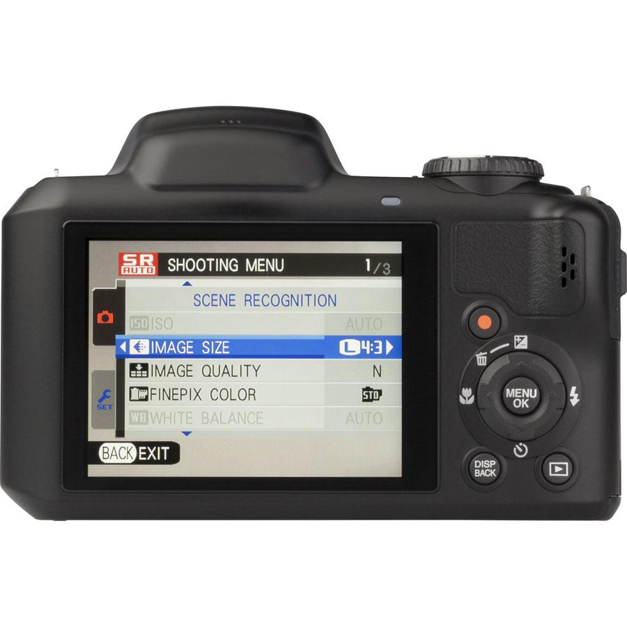 Fujifilm FinePix S8600 - Vue de dos