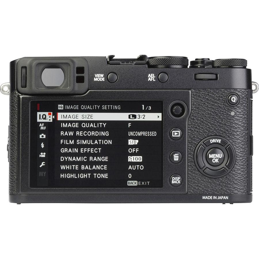 Fujifilm X100F - Vue de dos