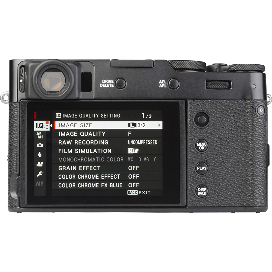 Fujifilm X100V - Vue de dos