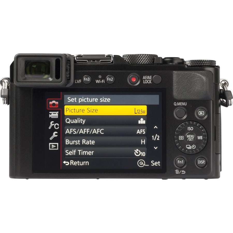 Panasonic Lumix DMC-LX100 - Vue de dos