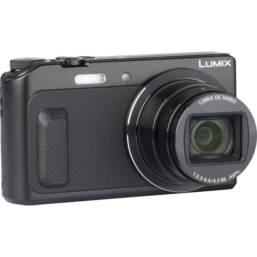 Panasonic Lumix DMC-TZ57 - Vue de 3/4 vers la droite