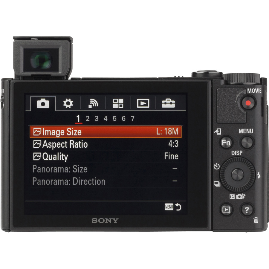 Sony Cyber-Shot DSC-HX90V - Vue de dos