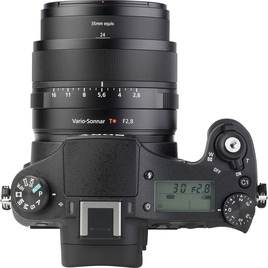 Sony Cyber-Shot DSC-RX10M2 - Vue du dessus
