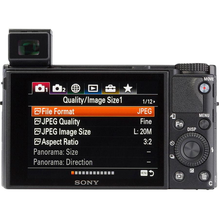 Sony Cyber-Shot DSC-RX100M6 - Vue de dos