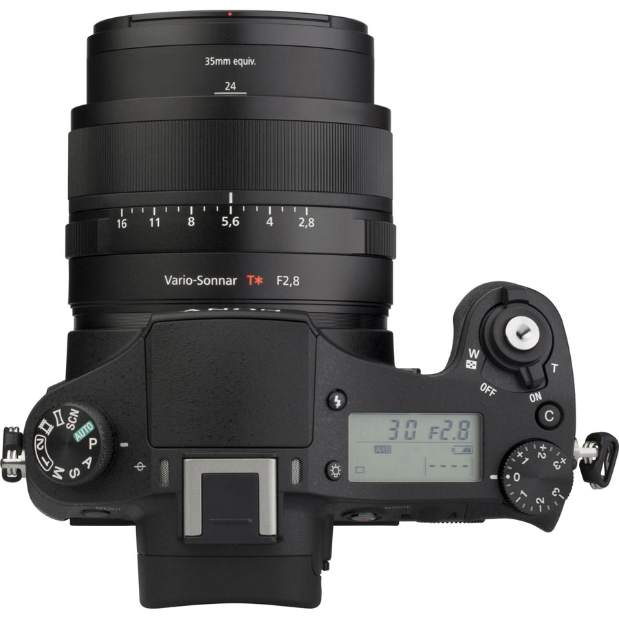 Sony Cyber-Shot DSC-RX10 - Vue du dessus