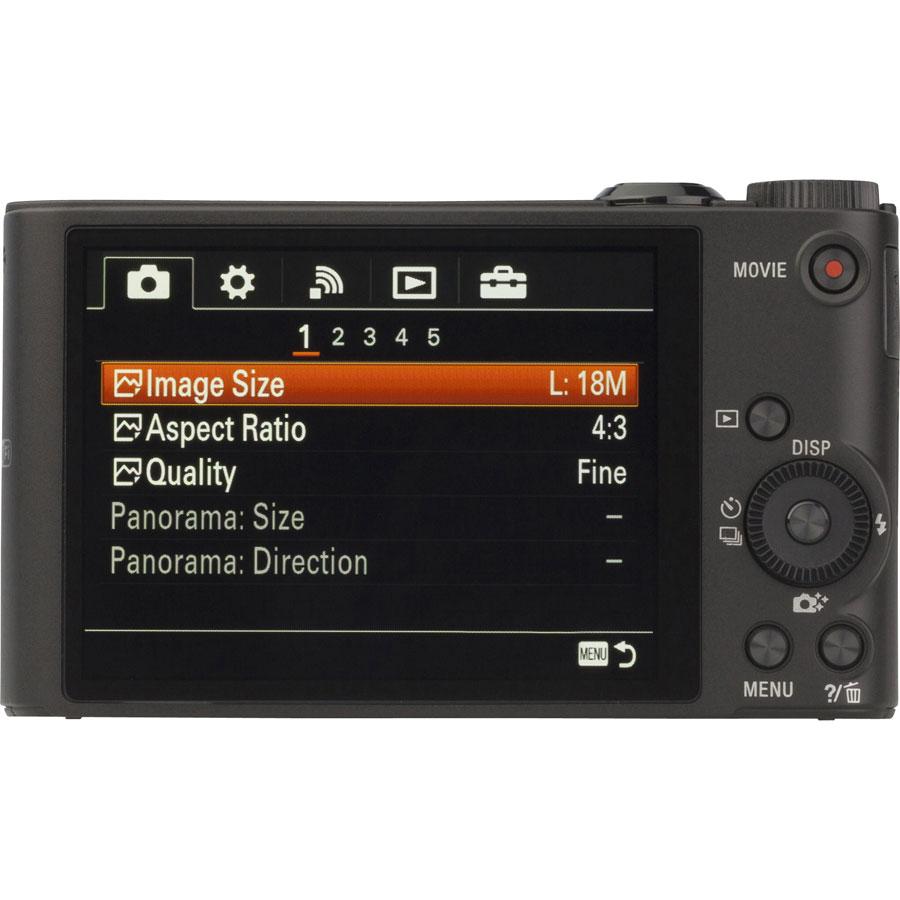 Sony Cyber-Shot DSC-WX350 - Vue de dos