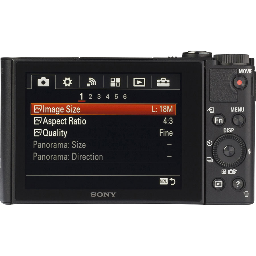 Sony Cyber-Shot DSC-WX500 - Vue de 3/4 vers la droite