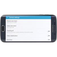 Samsung Galaxy S6 Edge - Ecran de commandes de la fonction appareil photo