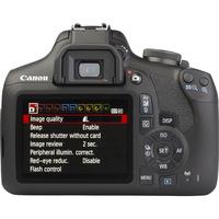 Canon EOS 2000D + EF-S 18-55 mm IS II - Vue de dos