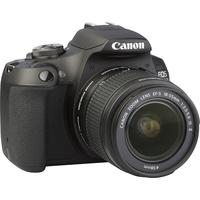 Canon EOS 2000D + EF-S 18-55 mm IS II - Vue de 3/4 vers la droite