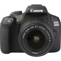 Canon EOS 2000D + EF-S 18-55 mm IS II - Autre vue de face