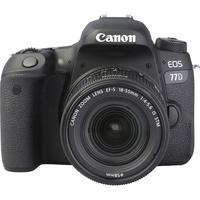 Canon EOS 77D + EF-S 18-55 mm F4-5,6 IS STM - Autre vue de face