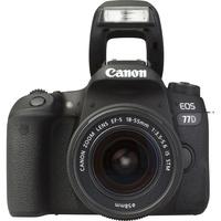 Canon EOS 77D + EF-S 18-55 mm IS STM - Vue de face