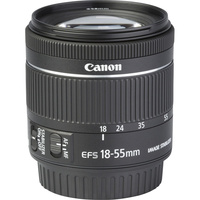 Canon EOS 800D + EF-S 18-55 mm F4-5,6 IS STM - Vue de l'objectif