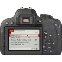 Canon EOS 800D + EF-S 18-55 mm F4-5,6 IS STM - Vue de dos