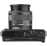 Canon EOS M10 + EF-M 15-45 mm IS STM - Vue du dessus