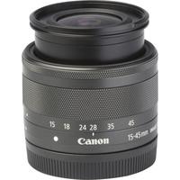 Canon EOS M100 + EF-M 15-45 mm IS STM - Vue de l'objectif